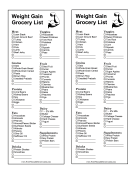 Healthy Weight Gain Grocery List