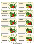 Vegetable Expiration Labels