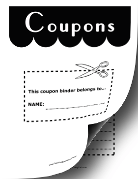 image regarding Coupon Binder Printable titled Printable Coupon Binder