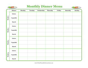 Stilettos and Diapers: Monthly Meal Planning and Shopping